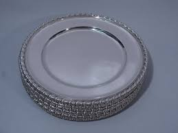 collection of 12 sterling silver plates on sale