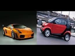 lamborghini smart car smart car vs lamborghini