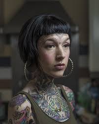 face tattoos photographed by mark leaver in new series