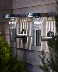 canterbury stainless steel solar wall light outdoor lighting