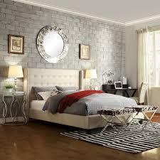 upholstered king wingback bed modern king beds design