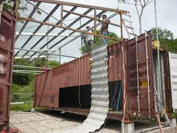 a roof in time a shipping container house in panama