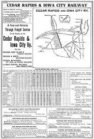 Chicago City Train Map by The Cedar Rapids U0026 Iowa City Railway