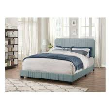 Bed Headboards And Footboards King Blue Beds U0026 Headboards Bedroom Furniture The Home Depot