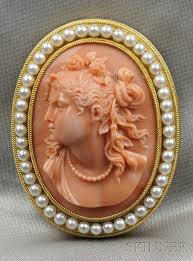antique gold cameo necklace images 187 best coral carving sculpture images coral jpg