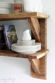 Wood Plank Shelves by Keeping It Cozy Reclaimed Wood Kitchen Shelves