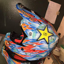 custom motocross helmet painting shades of gray custom paint and design home facebook