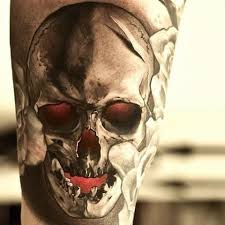 3d skull for beautiful leg design idea for and