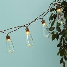 globe string lights solar powered edison leds 6 ft timer warm