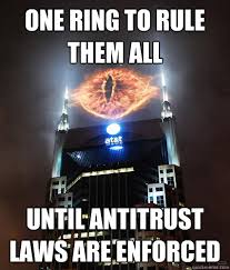 One Ring To Rule Them All Meme - well we all knew at t was evil funny pinterest meme
