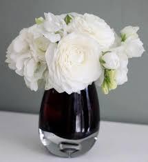Small Glass Vase White Ranunculus Vase My Los Angeles Florist
