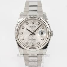 rolex white gold oyster bracelet images Rolex datejust watch 116234 beverly hills watch company jpg