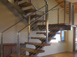 Cable Banister Enchanting Cable Railing For Stairs 64 With Additional Simple