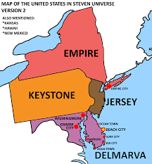 Map Of The States In United States by Map Of The United States In Steven Universe Version 2