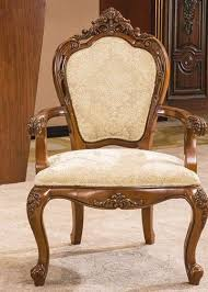Luxury Chairs Wooden Luxury Hotel Furniture Upholstery Fabric High Oval Back Arm