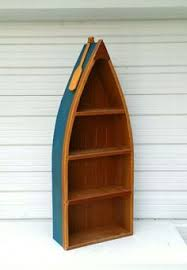 6 foot row boat bookshelf bookcase shelf nautical cabin and office