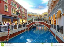 shoing canap the venetian hotel grand canal macau editorial stock image image