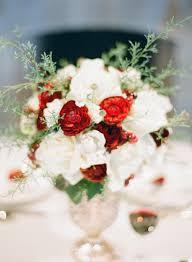 White Flower Arrangements Red And White Flower Arrangement With Rosemary Elizabeth Anne