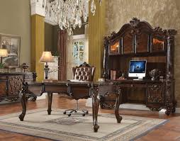 Acme Living Room Furniture by Versailles 92280 Executive Desk In Cherry Oak By Acme W Options