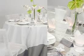 deco mariage blanc et table grise wedding deco flowers etc pop s