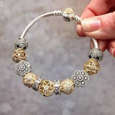 beads bracelet pandora images Silver and gold pandora bracelet venetian glass beads dog beads jpg