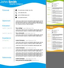 Creative Resume Templates Download Creative Resume Template Design Vector Material 03 Vector Other