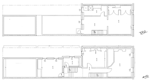 current floor layout philly row home reno