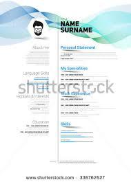 Resume Simple Design Resume Minimalist Cv Resume Template Simple Stock Vector 417191278