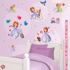 chambre princesse sofia disney princess sofia 75 walltastic stickers great kidsbedrooms