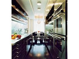 Black Galley Kitchen - beaches bath black kitchens