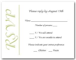 response cards celery green on white rsvp cards reply cards response cards
