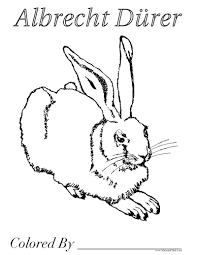 free coloring pages to go with art appreciation lessons durer a