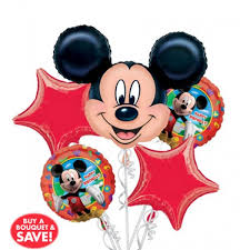 helium balloon delivery in selangor happy birthday mickey mouse balloon bouquet 5pc from category
