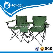 Sports Chair With Umbrella Double Camping Chair Pvc Fabric Wholesale Folding Double Camping