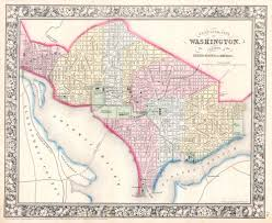 Eastern Washington Map by File 1864 Mitchell Map Of Washington D C Geographicus