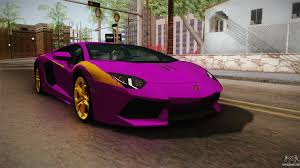 lamborghini aventador purple lamborghini aventador the joker for gta san andreas