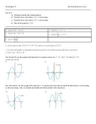 calculus curve sketching worksheet the best and most