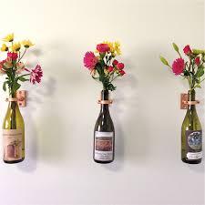 flowers wine hardware only 1 wine bottle wall flower vase kits copper