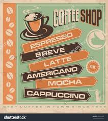 retro vector design concept for coffee shop cafe bar vintage ad