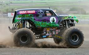 monster jam grave digger remote control truck going for a ride in grave digger video motor trend