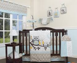 Yellow And Gray Crib Bedding by Geenny Enchanted Forest Owls Family 13 Piece Crib Bedding Set