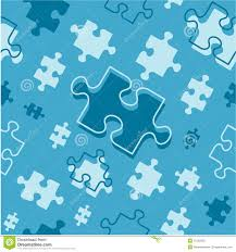 seamless repeatable puzzle pieces pattern stock photography