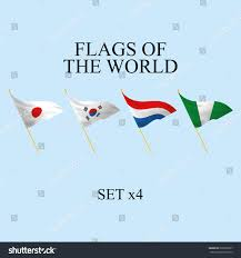 Different Flags In The World Vector Set Different Flags World Stock Vector 205856527 Shutterstock