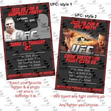 ufc birthday invitations u0026 matching party supplies available
