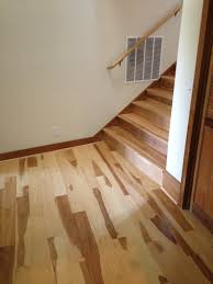 hickory hardwood floor entry and stairs t t floors mullican