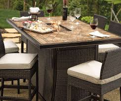 Bistro Set Bar Height Outdoor by Furniture Bistro Patio Sets Square Patio Dining Table Bar