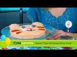 daniel tiger cake tiger cake and striped parfaits daniel tiger birthday party 3