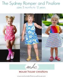the sydney romper and pinafore welcometothemousehouse com