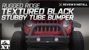 jeep wrangler rugged ridge textured black stubby tube bumper 2007