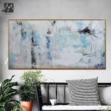 aliexpress com buy muya blue abstract painting canvas cheap